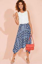 Tile Print Hanky Hem Skirt