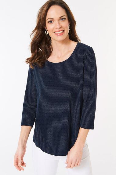 Metallic Rib Stripe T-Shirt
