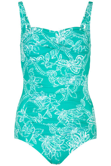 Turqoise Ruched Front Swimsuit