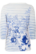Floral Stripe T-Shirt