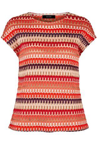 Salvari Crochet Look Mesh Top