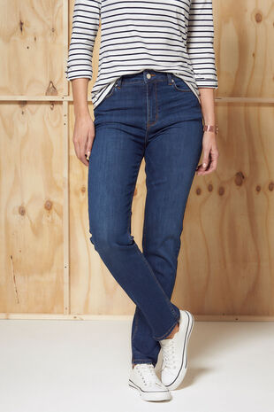 Nine To Six Mid Indigo Straight Leg Jeans