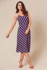 Grace By Eda Diagonal Stripe Button Through Skirt