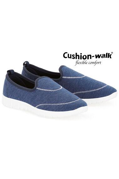Cushion Walk Denim Effect Slip On Shoe
