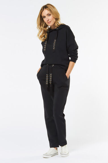 Hoody with Diamante Detail