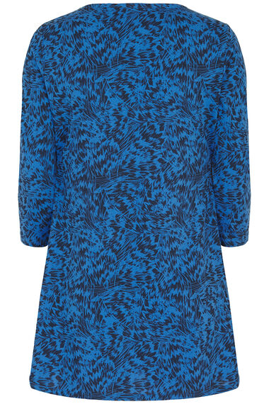 Feather Scribble Print Tunic