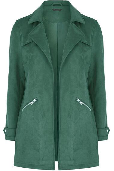 Longline Suedette Biker Jacket