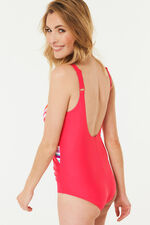 Knot Front Stripe Swimsuit