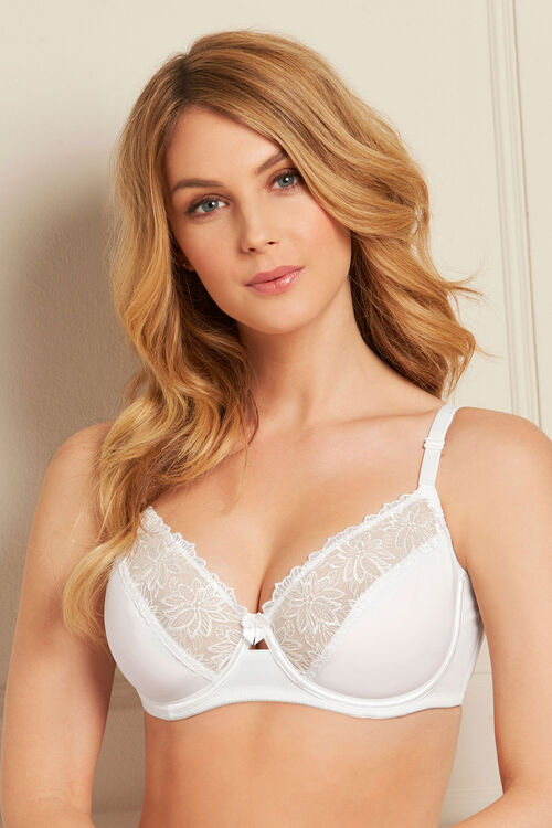 2 Pack Embroidery Trim Underwired Bra