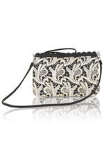 Lace Overlay Clutch Bag