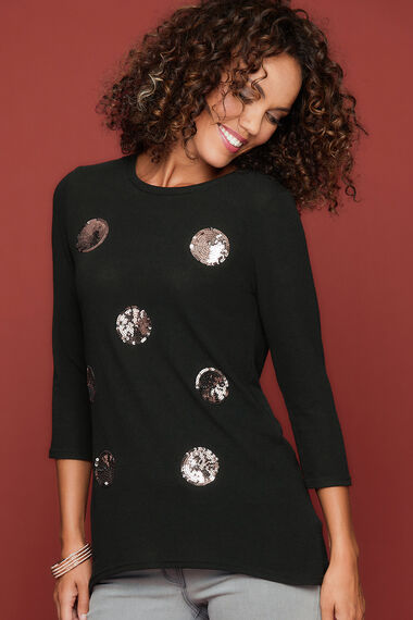 Izabel Sequin Spot Jumper