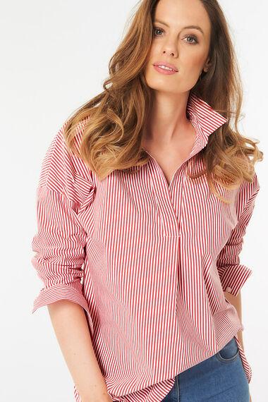 Drop Shoulder Stripe Shirt