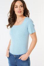 Square Neck Basic Marl T-Shirt