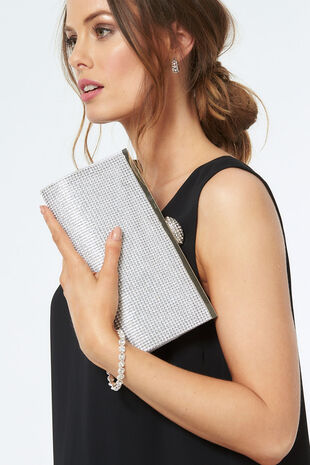 PL Handbags Diamante Evening Bag