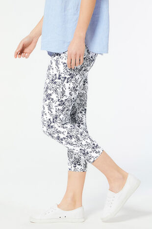 Leaf Print Crop Legging
