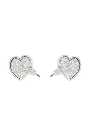 Muse Glitter Heart Stud Earrings