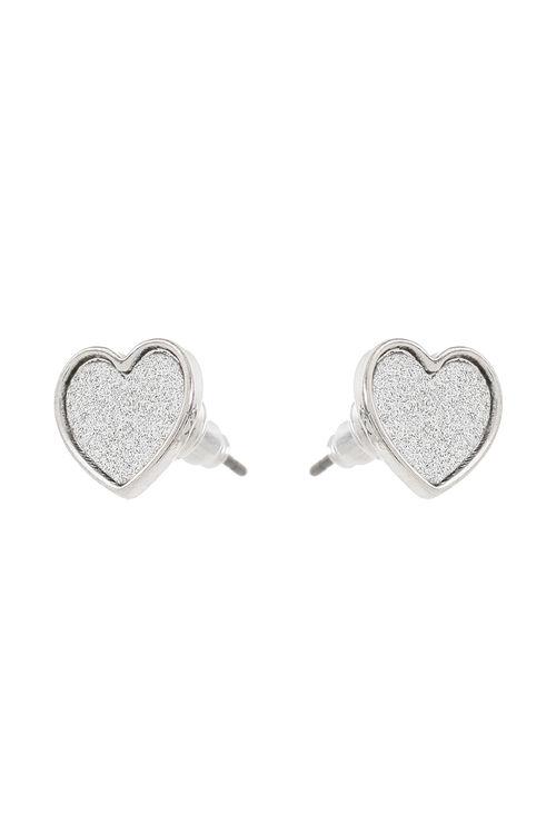 Muse Glitter Heart Stud Earrings