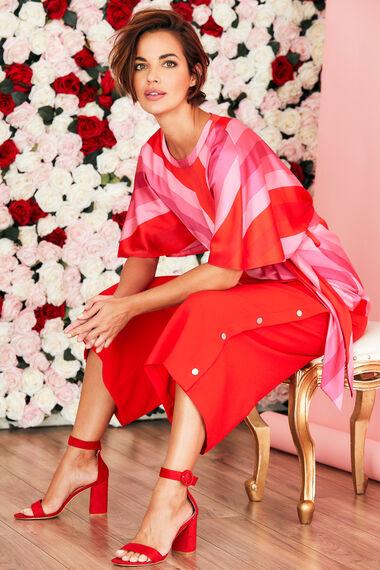 Red Crepe Culotte