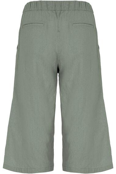 Wide Leg Linen Cropped Trousers