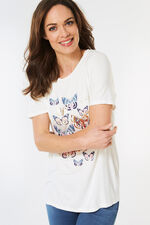 Butterfly Placement T-Shirt