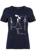 Fashion Illustration Print T-Shirt