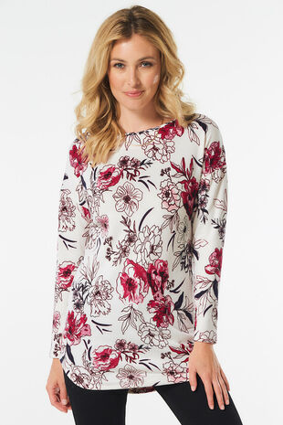 Soft Touch Floral Sweat