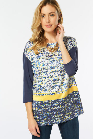 Woven Front Jersey Back Tunic