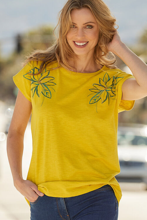 Floral Shoulder Print T-Shirt