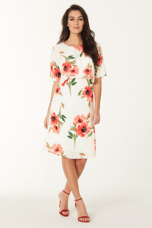 Printed Double Layer Dress