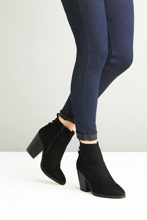 Krush Western Ring Detail Ankle Boot