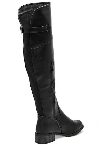 Krush Buckle Detail Knee High Boot