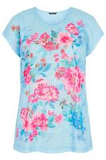 Placement Box Floral Print T-Shirt