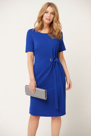 Cobalt Eyelet Dress