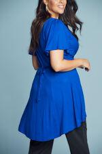 Scarlett & Jo Angel Sleeve Blue Knot Front Tunic