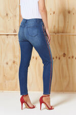 Nine To Six Side Tape Skinny Fit Ankle Jeans