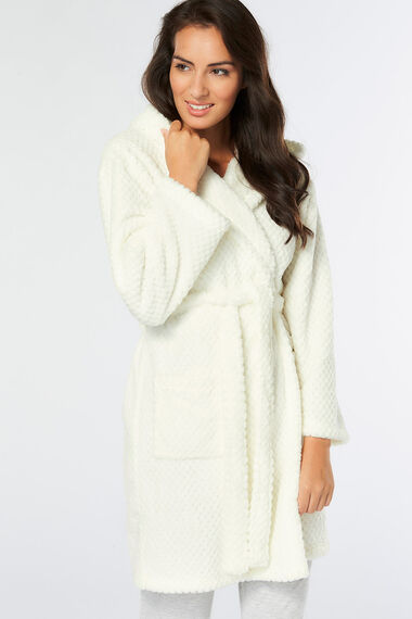 Soft Texture Hooded Robe