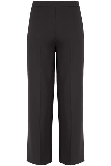 Salvari Wide Leg Trouser With Faux Leather Trim