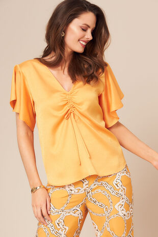 Grace By Eda Ruffle Sleeve Top