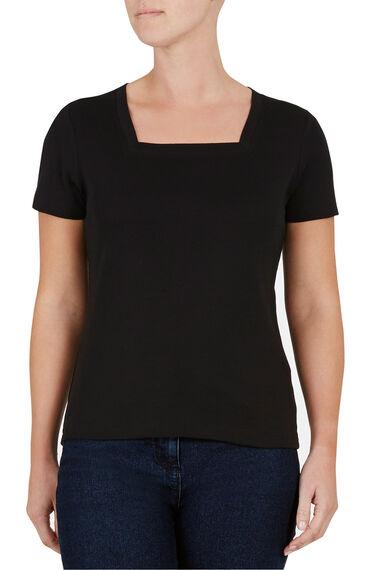 Basic Cotton Square Neck T-Shirt