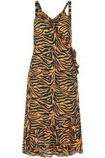 Isla & Rose Zebra Print Wrap Dress