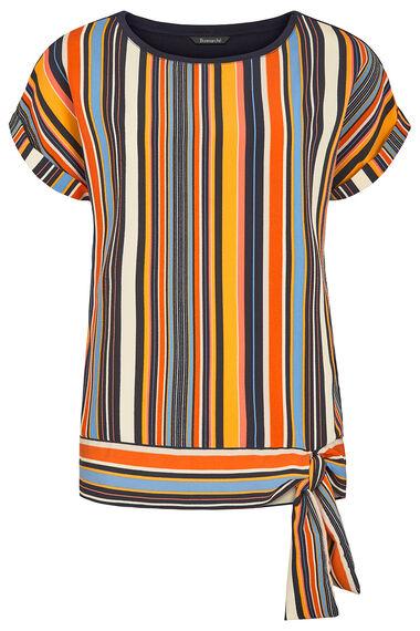 Stripe Tie Side Jersey Back Top