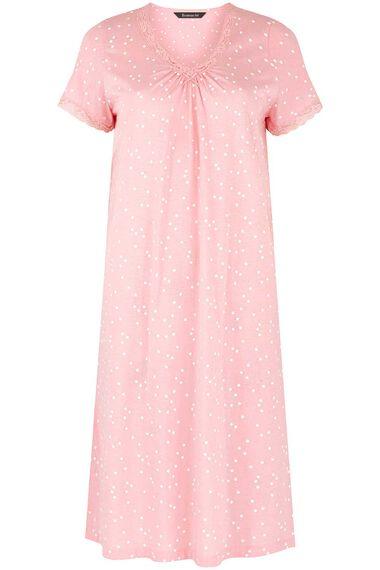 Spot Print Lace Trim Nightdress