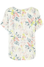 Tie Front Floral Print T-Shirt