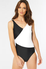 Plain Contrast Wrap Swimsuit