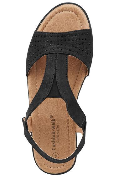 Cushion Walk Diamante Sling Back Sandal