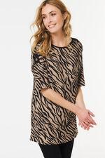 Animal Print Tunic with Stud Detail