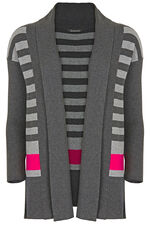 Stripe Colour Block Cardigan