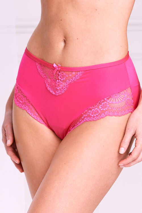Demi Lace High Leg Brief