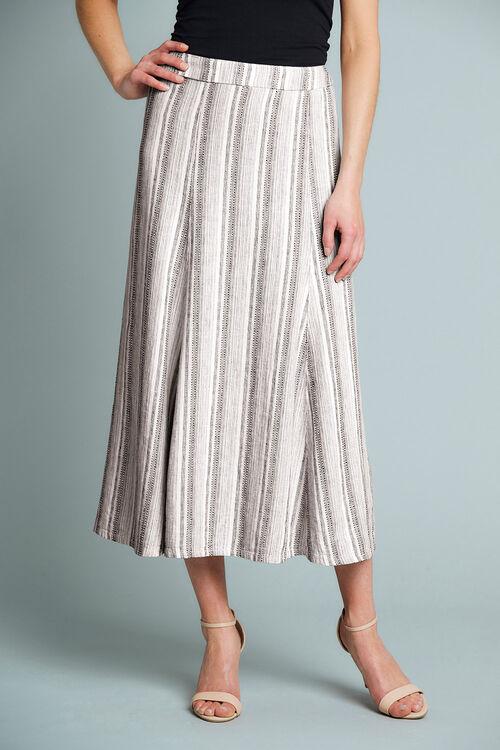 Textured Linen Blend Skirt