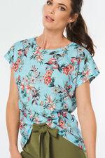 Botanical Floral Linen Look T-Shirt